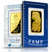 1 oz PAMP Suisse Gold Bars