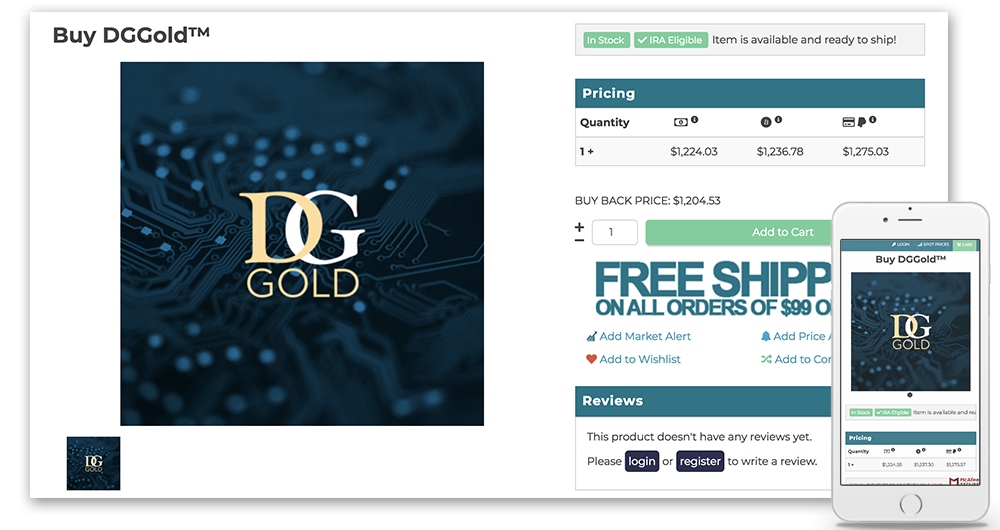 dggold product page