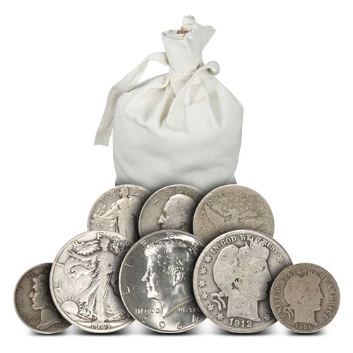 $12 Face Value 90/% Silver Coins Many Designs! Half Dollars Quarters /& Dimes