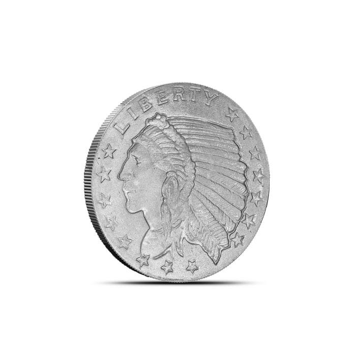 INCUSE INDIAN DESIGN 1//2 oz .999/% SILVER ROUND BULLION COLLECTOR COIN GIFT