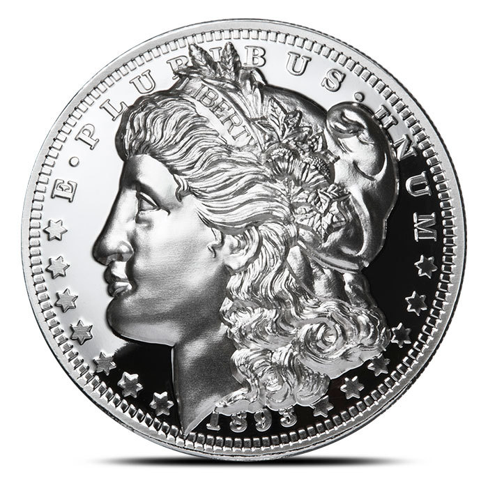 Pure Copper Bullion Round!! 1921 Peace Dollar Portrait 1oz