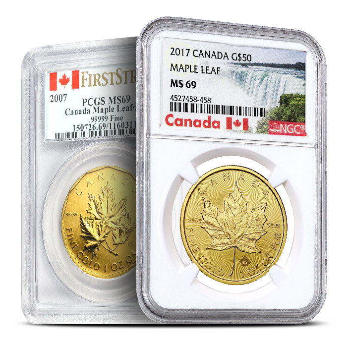 1 oz Random Year Canadian Maple Leaf Gold Coin