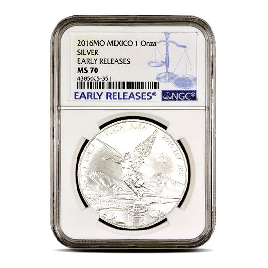 ANTIQUE LIBERTAD 2019 5 oz Silver Coin NGC MS 70 EARLY RELEASES ER MEXICO