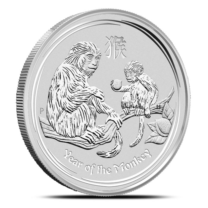 2016 1 kilo Silver Year of the Monkey Coin