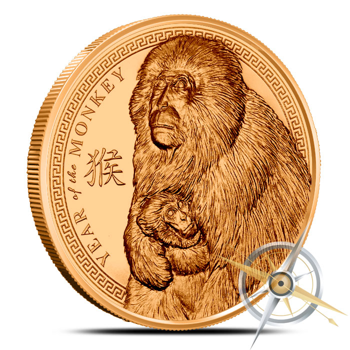 2016 Year of the Monkey 1 oz Copper Round