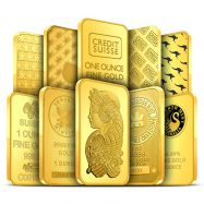 1 oz Gold Bar Our Choice | Random
