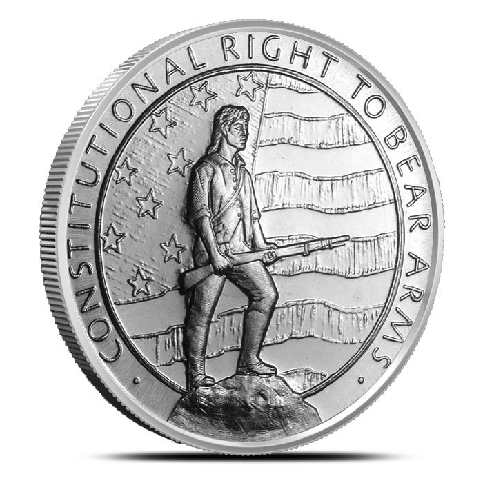 1 oz Silver Second Amendment Round Front