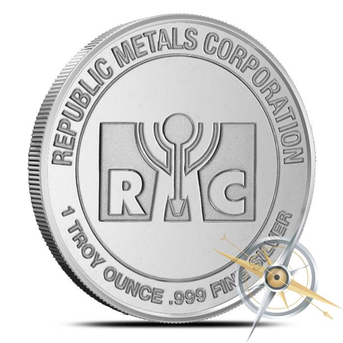 buy republic metals  oz silver   shipping provident