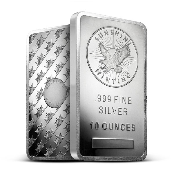 10 oz Silver Sunshine Bar | Mintmark SI