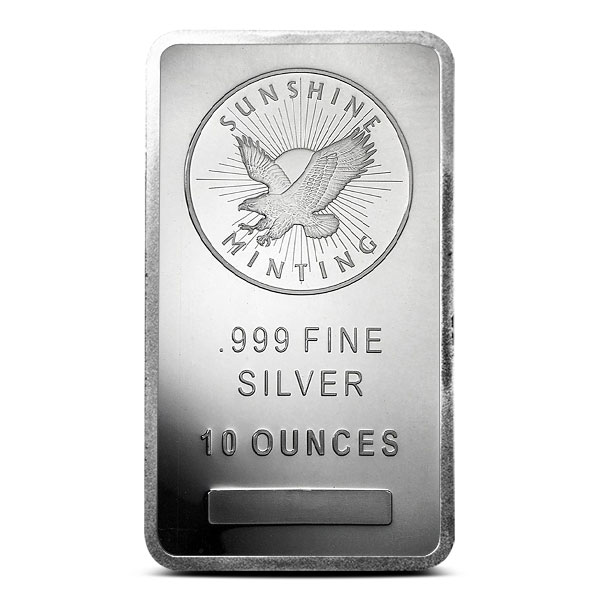10 oz Sunshine Silver Bar | Mintmark SI