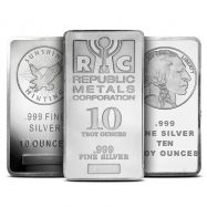 10 oz Silver Bar Varied Condition | Any Mint