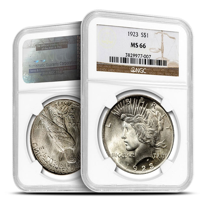 1923 Peace Silver Dollar | NGC MS66 Obverse & reverse