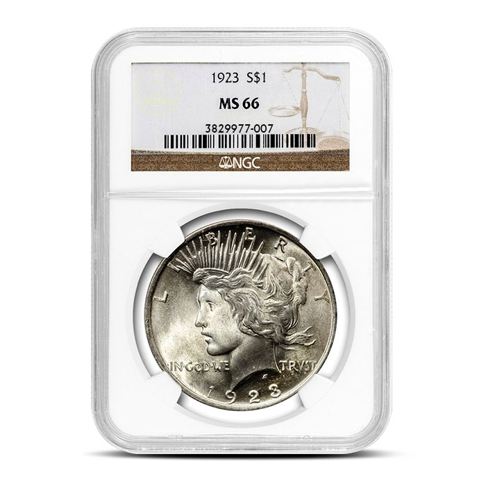 1923 Peace Silver Dollar | NGC MS66