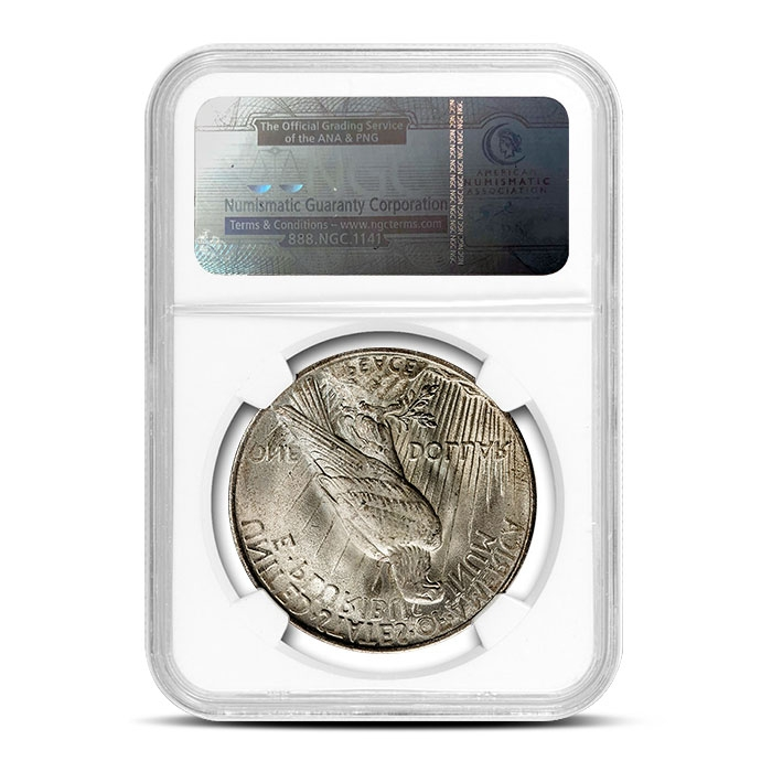 1923 Peace Silver Dollar Reverse | NGC MS66