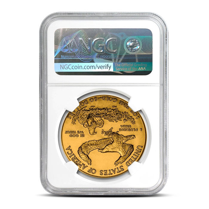 1988 1 oz Gold American Eagle | NGC MS70