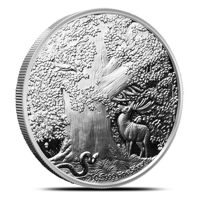 1 oz World Tree Proof Silver | Nordic Creatures