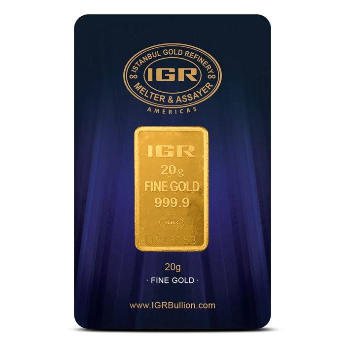 20 gram Gold Bar | Istanbul Gold Refinery