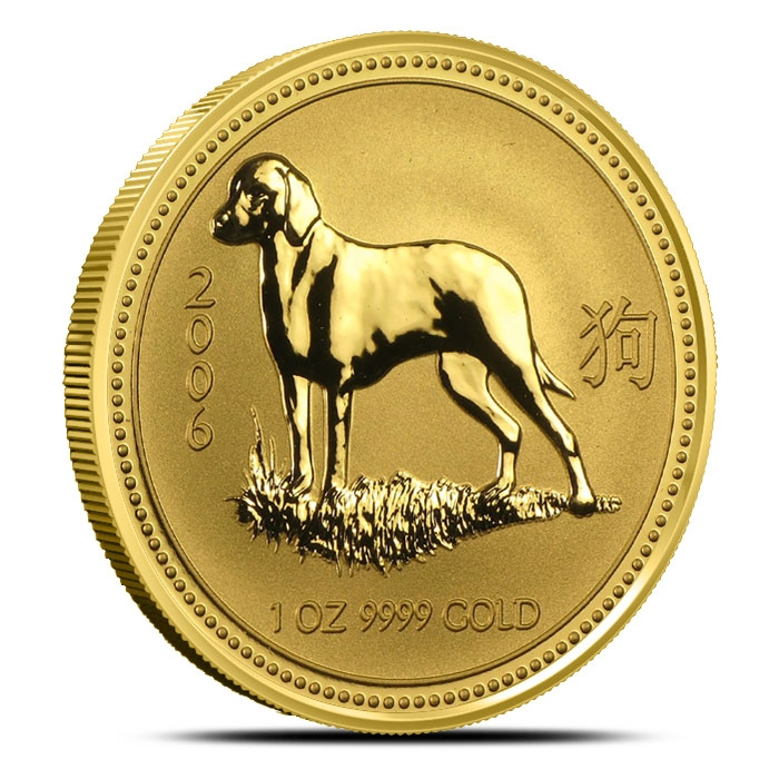 2006 Australia 1 oz Gold Dog | Perth Mint Lunar Series 1