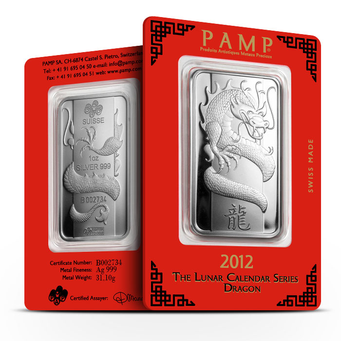 2012 PAMP Suisse 1 oz Lunar Dragon