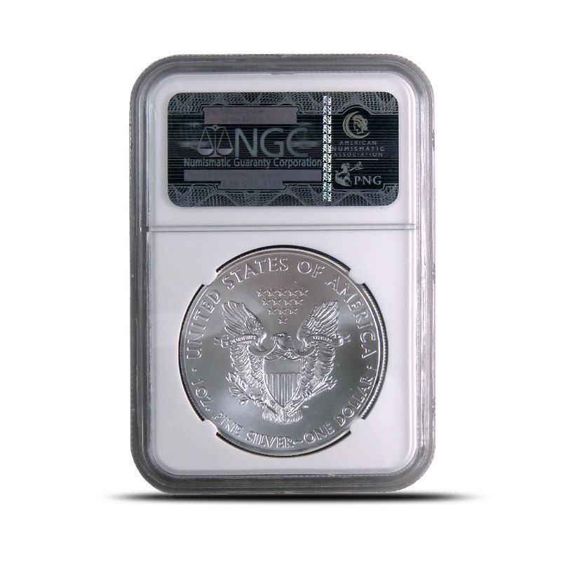 NGC MS70 Early Release 2012 (W) American Silver Eagle Bullion Coin Reverse