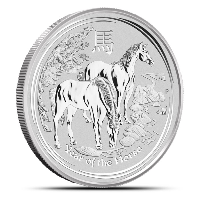 2014 Kilo Silver Perth Mint Lunar Year of the Horse