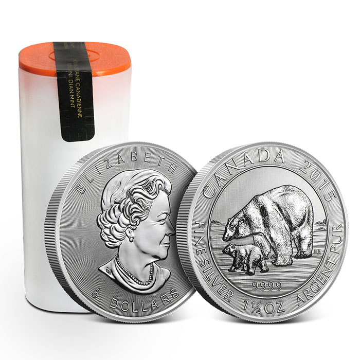2013 Canada $8 1 1//2 oz Polar Bear .9999 Fine Silver Bullion Coin in Capsule
