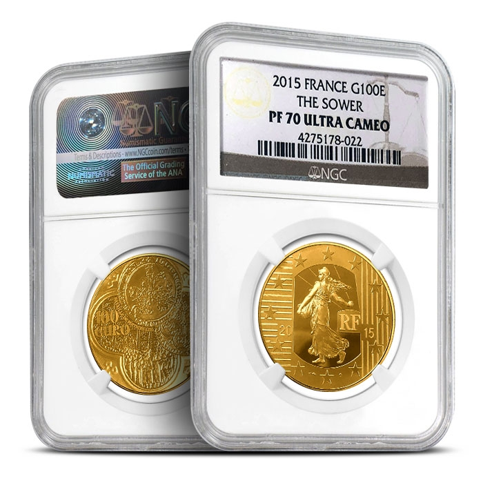 2015 French 1/2 oz Gold Sower | NGC Proof 70