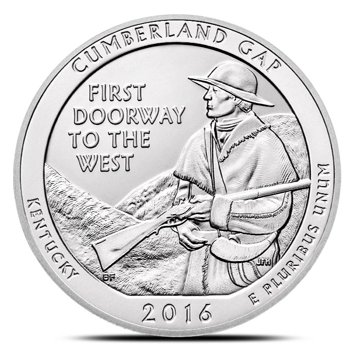 2016 Cumberland Gap National Historical Park 5 oz Silver ATB