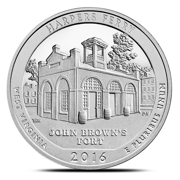 W. Virginia 2016 ATB 5 oz Harpers Ferry Nat/'l Park WITH NEW Air-Tite Holder