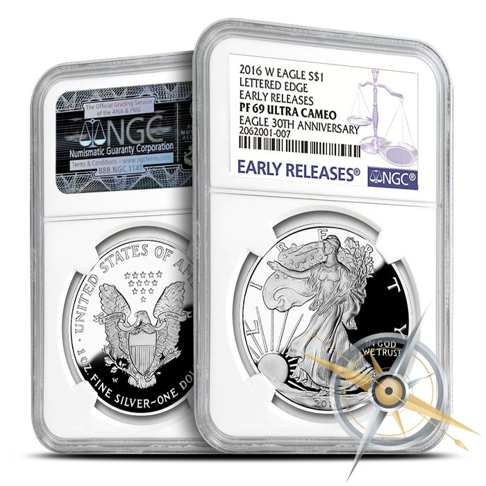 2016 Proof American Silver Eagle | Early Release PF69 NGC