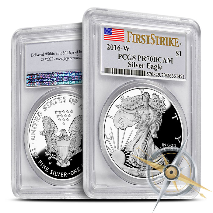 2016 Proof American Silver Eagle | First Strike PF70 PCGS
