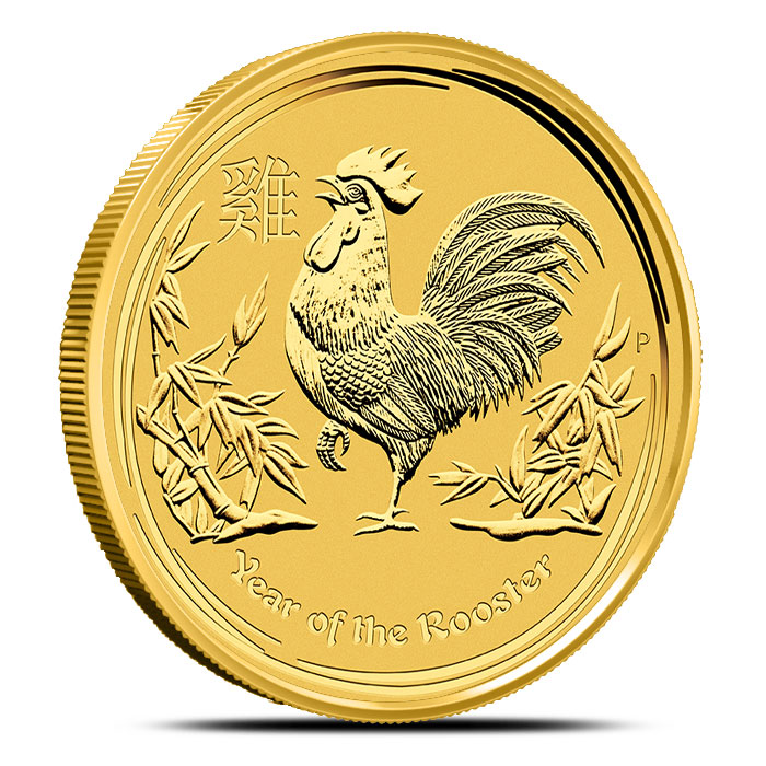 Year of the Rooster 2 oz Gold Coin