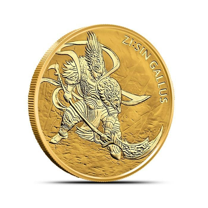 2017 South Korea 1/2 oz Gold ZI:SIN Gallus