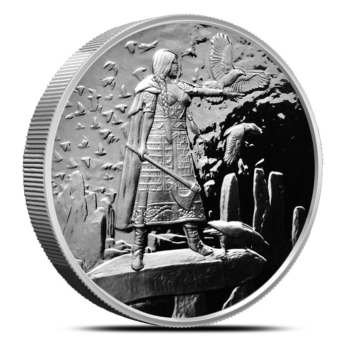 The Morrigan 5 oz Proof Silver | Celtic Lore Series
