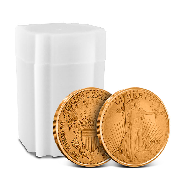 Saint Gaudens Fourth oz Copper Rounds with roll of 20