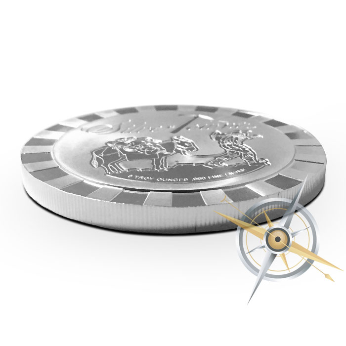 5 oz Silver Stackable Prospector Round | SilverTowne