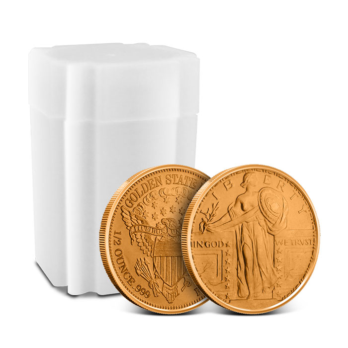 Standing Liberty 1/2 oz Copper Round with Roll