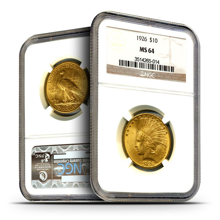 $10 Indian Head Gold Eagles | NGC MS64