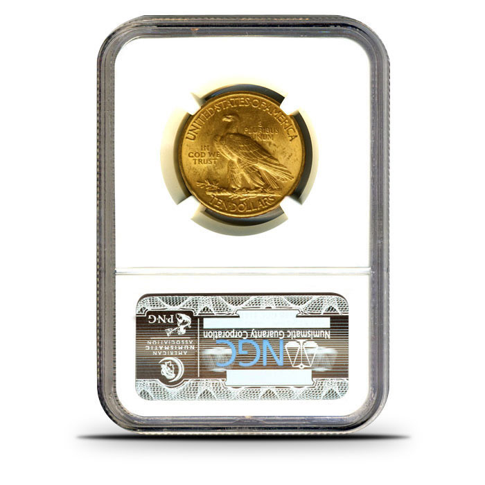 $10 Indian Head Gold Eagle | NGC MS64 Reverse