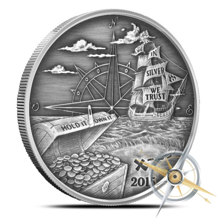 2015 Finding Silverbugs Island 1 oz Silver Round Set | Proof and Antiqued