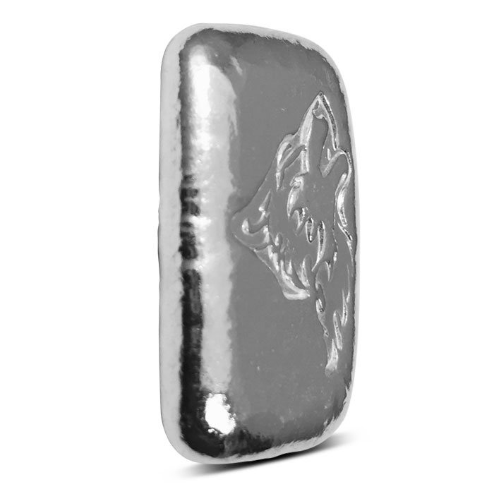 1 oz Wolf Poured Silver Bar | Atlantis Mint