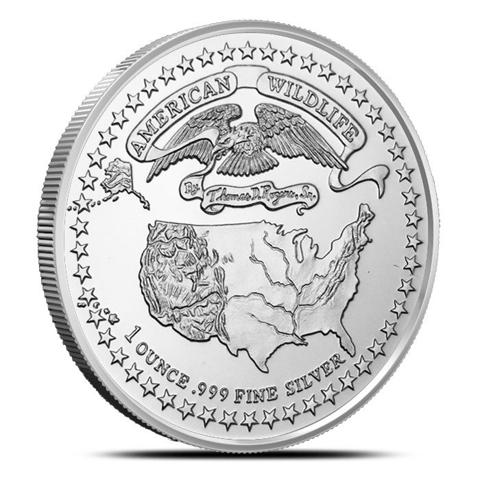 American Wildlife Series | Grizzly Bear 1 oz Silver Round