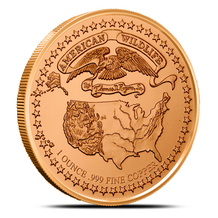 American Wildlife Series | Bald Eagle 1 oz Copper Round