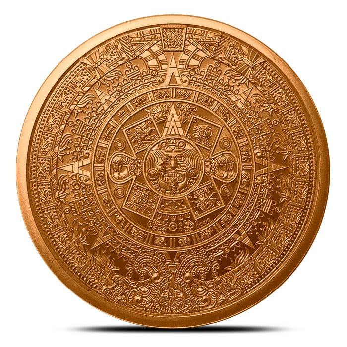 1 oz Copper Round | Aztec Calendar