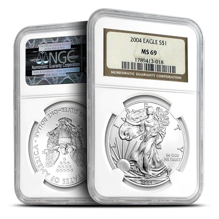2004 NGC MS69 American Silver Eagles