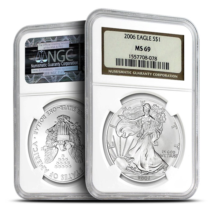 2006 Silver Eagle NGC MS69