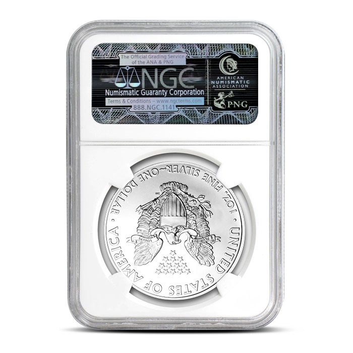 NGC MS69 2009 American Silver Eagle Coin Reverse