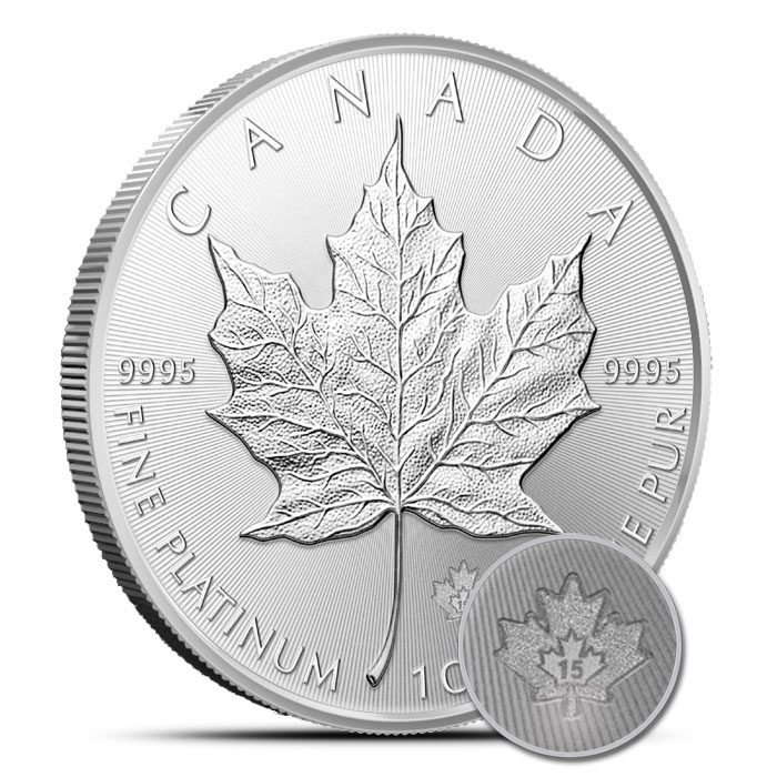 2015 1 oz Canadian Palladium Maple Leaf