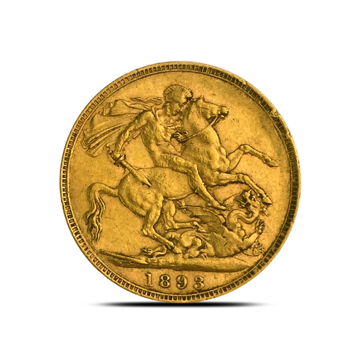 Great Britain Gold Sovereign VF+ 1893-1901