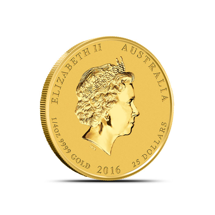 2016 Perth Mint Year of the Monkey 1/4 oz Gold Coin